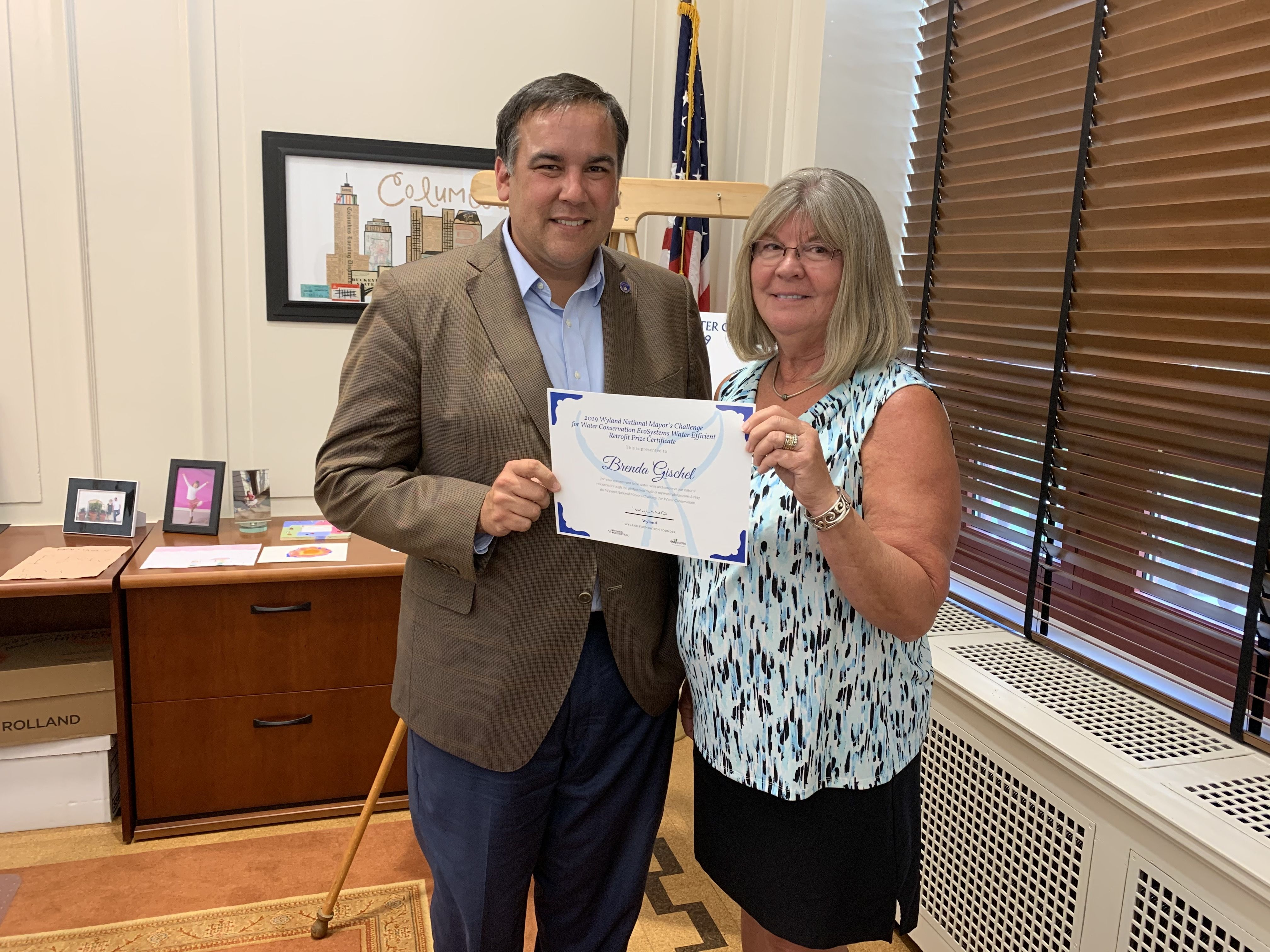 Ecosystems salutes winner of Wyland National Mayor's challenge for water conservation with home water efficiency makeover
