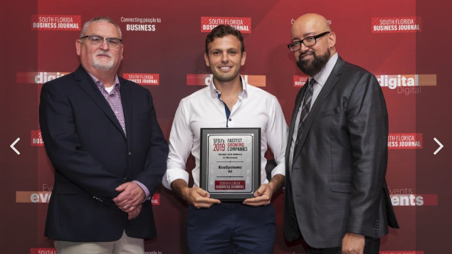 ECOSYSTEMS RANKS SECOND ON SOUTH FLORIDA BUSINESS JOURNAL'S 2019 FAST 50